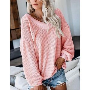 Pink Ribbed Pullover Sweater